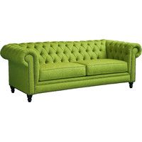 "Marleigh 90"" Chesterfield Sofa in Sweet-Pea"