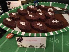 Football shaped brownies