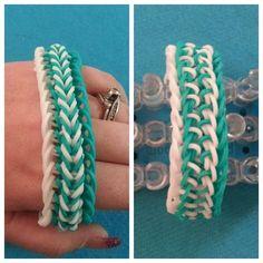 "My new Reversible ""Fishy Gills"" Rainbow Loom Bracelet/How To Tutorial"