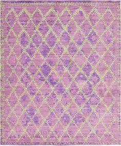 Purple Aqua Area Rug