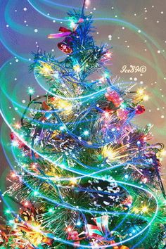 christmas images Christmas Tree L - christmas Christmas Scenes, Noel Christmas, Vintage Christmas Cards, Winter Christmas, Christmas Crafts, Christmas Decorations, Tree Decorations, Xmas, Whimsical Christmas
