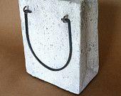 Cement Shopping Bag Planter Decorative Garden Decor