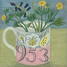 'Ravilious mug and buttercups' Debbie George www.debbiegeorge.co.uk