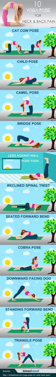11 easy Yoga pose for neck and back pain to feel more active. Simple Yoga Pose for Back Pain. Yoga Exercise for Neck pain. Morning Yoga pose for beginner.