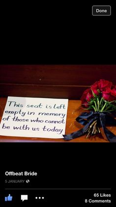 This is a sweet way to remember those who couldn't make it to the ceremony. ~A
