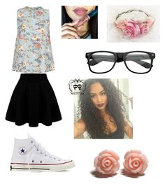 Floral Fantasy by diazmermaid on Polyvore featuring polyvore Mode style Converse fashion clothing