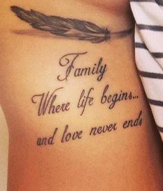 Best quote about family, tattoo by Kaiser | My Ink Life | Pinterest ...