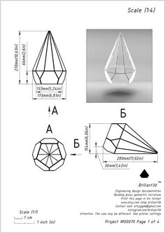 Pattern for creating a geometric glass box Tiffany style. Stained Glass Paint, Stained Glass Panels, Stained Glass Patterns, Origami Shapes, Terrarium Wedding, Cardboard Box Crafts, Glass Terrarium, Terrariums, Tiffany Glass