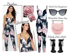 """""""Spring Essential - A Floral Jumpsuit"""" by latoyacl ❤ liked on Polyvore featuring Schutz, M2Malletier and Fendi"""