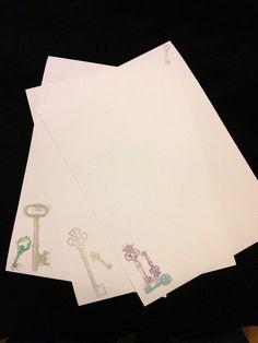 Vintage Keys Letter/Writing Set by kiaherrol on Etsy, £3.32