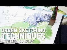 Pen and Wash Easy urban sketch  Watercolor Tutorial. Beginner Lessons by Nil Rocha - YouTube