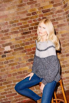 Claudia Schiffer Debuts an Awesome New Sweater Line via @WhoWhatWearUK