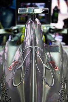 Rear side of a Mercedes F1-car