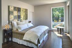 Master bedroom: Andersen windows and doors, Terratone exterior, white interior