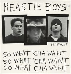 "Beastie Boys - So What 'Cha Want 12"" single"