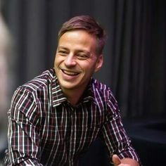 Tom Wlaschiha at the Tube Station in Berlin