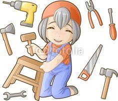 - Woodworking Tools Guns How To Use - Welcome Crafts Community Workers, Community Helpers, Chibi, Cool Ideas, Preschool Worksheets, Diy Tools, Woodworking Tools, Smurfs, Paper Crafts