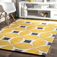 Shop a great selection of nuLOOM Hand Tufted Gabriela Area Rug, x Sunflower. Find new offer and Similar products for nuLOOM Hand Tufted Gabriela Area Rug, x Sunflower. Contemporary Area Rugs, Modern Area Rugs, Yellow Area Rugs, Beige Area Rugs, Grey And Yellow Living Room, Yellow Gray Bedroom, Area Rugs For Sale, Hand Tufted Rugs, Mellow Yellow