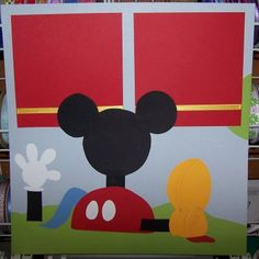 Mickey Mouse clubhouse...i think i might make something similar to hang on the patio door...hmmm