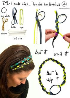 DIY braided headband diy easy crafts diy ideas diy crafts do it yourself diy tips diy images do it yourself images diy photos diy pics easy diy craft ideas diy braid diy headband diy braided headband Popular Hairstyles, Diy Hairstyles, Ponytail Hairstyles, Wedding Hairstyles, Men's Hairstyle, Hairstyle Ideas, Diy Tresses, Diy Headband, Braided Headbands
