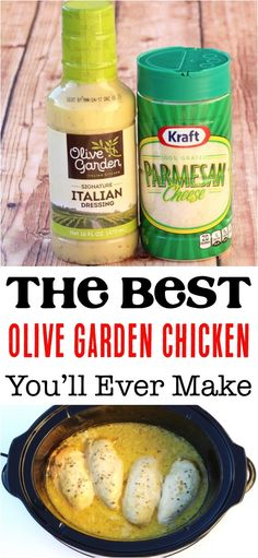 Crockpot Olive Garden Chicken Recipe! This copycat dinner recipe is such a delicious + easy addition to your menu!