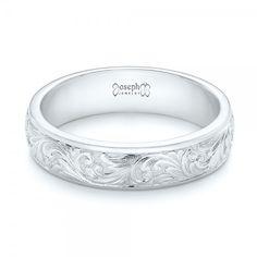 custom hand engraved wedding band joseph jewelry bellevue seattle online designers