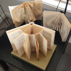 #bookfolding #bookart #books #art #foldedpaper #foldedpaperart #foldedbookart #paper #craft #flowers #paperflowers #eastgippsland #gifts… Folded Book Art, Book Folding, Craft Flowers, Paper Flowers, Birthday Party Themes, Paper Craft, Upcycle, Indoor, Collections