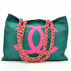 Chanel Green and Pink Nylon. I just fell in love.