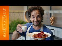 Raggmunk med stekt fläsk och lingon   Markus Aujalay - YouTube Breakfast, Youtube, Eat, Food, Chef Recipes, Cooking, Morning Coffee, Essen, Meals