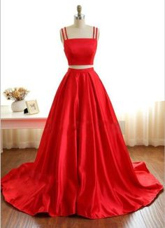 Two Pieces Prom Dresses,Evening Dresses,Prom Dresses For Teens,Sparkly