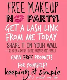 Host an Online Younique Party to Earn FREE and HALF PRICE Makeup! http://AngelWingLashes.com