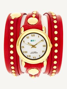 La Mer Watches: Red Gold Bali Stud Wrap