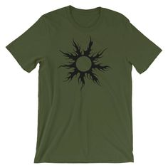 Big Soundgarden fan here. Nuff said ;)  https://www.etsy.com/listing/585744585/flaming-black-sun-short-sleeve-unisex-t