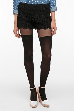 Pins and Needles Lace Tap Short  $49.00, Urban Outfitters