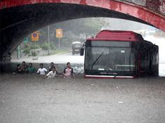 Heavy rains lash Delhi 20-Jul A DTC bus stuck at the flooded Minto Road underpass after heavy shower in New Delhi. PTI Photo Posted by floodlist.com