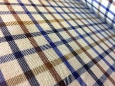 Kendal stag blue wool and cotton shirting fabric
