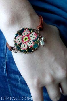 Vintage Tin Bracelet