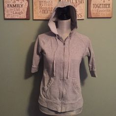 Ann Taylor Jacket Great short sleeve jacket by Ann Taylor. Has two front pockets. Great condition no flaws. Runs small would be best for a small Ann Taylor Jackets & Coats