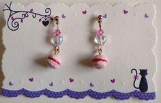 Macaron Earrings  Kawaii Deco Sweets/Sweet by HoriSweetShop, ¥1200