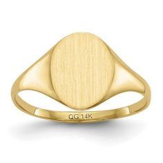 14k Yellow Gold Signet Ring, Women's