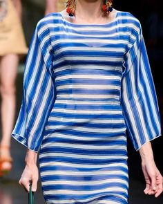 D&G Spring / Summer 2013 Blues, Crafting, Spring Summer, Dresses With Sleeves, Long Sleeve, Fashion, Moda, Full Sleeves, Fashion Styles