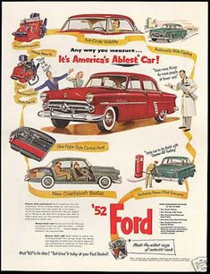 Ford Car New Features Vintage (1952)
