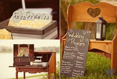 Cheap Wedding Program Idea.