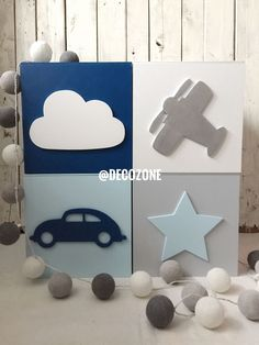 Baby Decor, Kids Decor, Nursery Decor, Wooden Blocks Toys, Woodworking Articles, Baby Boy Rooms, Kids Rooms, Baby Room Design, Baby Bedding Sets