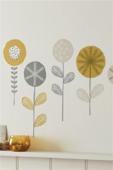 Abstract Floral Wall Sticker