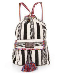 Billabong Caravan Backpack - Striped Backpack - Tribal Print Backpack - $39.50