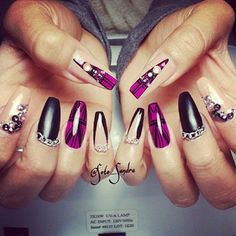 Instagram foto door soto_sandra - ♡ #nails #nailart #naildesign #nailpolish #nailaddict #nailporn #nailjunkie #coffinnails #tribalprint #chains @lizxanna