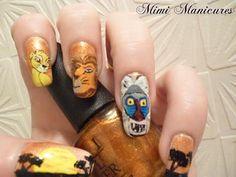 Disney Lion King Nail Art