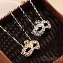 2014 nouveau mode féminine rétro Style de Charm Fox pendentif masque déclaration cadeau nouveauté collier 1FN9(China (Mainland))