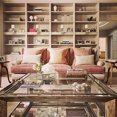 A #luxurious pink velvet #sanctuary for the lady of the #house to relax and read, free from computers and television! #home #livingroom #interior #interiordesign #homedecor #livingroomdecor